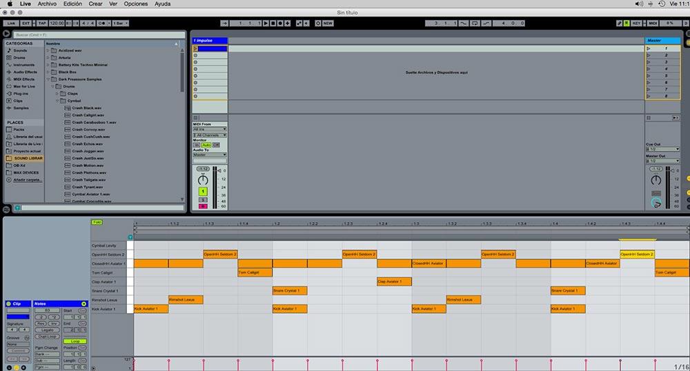 Ableton  Impulse y Drum rack trucos útiles 1