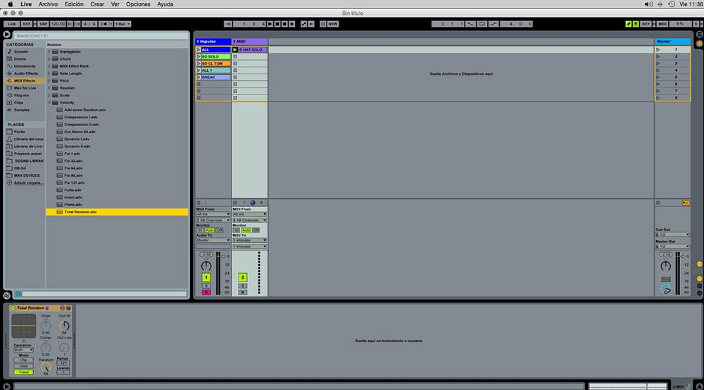 Ableton  Impulse y Drum rack trucos útiles 12 - Tutorial Ableton Live: Impulse y Drum rack, trucos útiles. Capítulo 1
