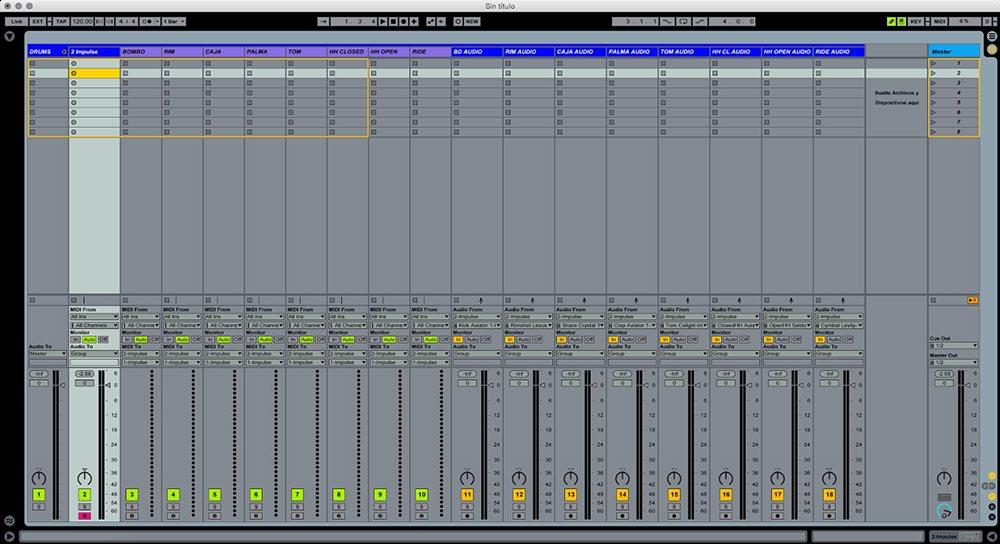 Ableton  Impulse y Drum rack trucos útiles 14 - Tutorial Ableton Live: Impulse y Drum rack, trucos útiles. Capítulo 1