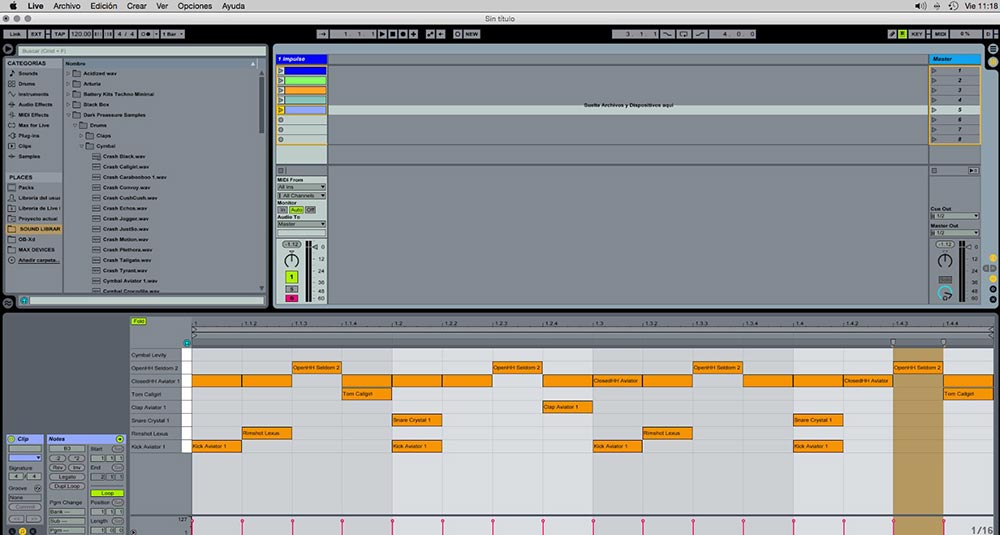 Ableton  Impulse y Drum rack trucos útiles 2 1 - Tutorial Ableton Live: Impulse y Drum rack, trucos útiles. Capítulo 1