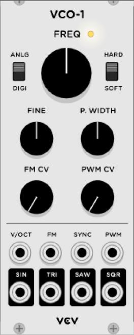 Sintesis Sustractiva Basica VCV RACK 11 - Síntesis Sustractiva Básica en VCV RACK