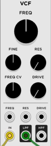 Sintesis Sustractiva Basica VCV RACK 28 - Síntesis Sustractiva Básica en VCV RACK