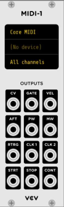 Sintesis Sustractiva Basica VCV RACK 9 - Síntesis Sustractiva Básica en VCV RACK