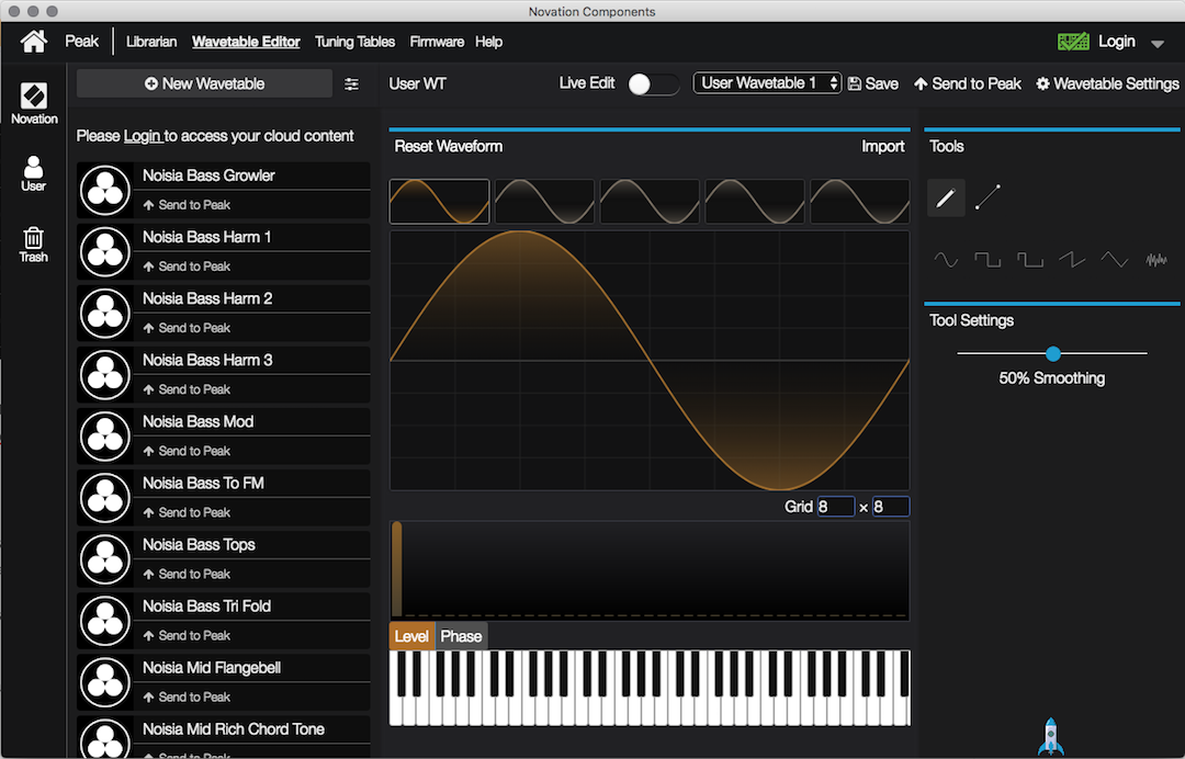 Captura de pantalla 2020 05 13 a las 13.42.41 - Probamos el nuevo Novation Peak Wavetable Editor