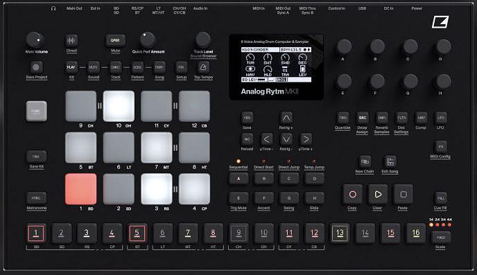 Elektron Analog Rytm MKII Black opt - Home Studio. 5 Cajas de ritmo muy recomendables