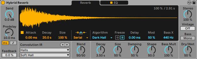 hybrid reverb - Ableton 11. Hybrid reverb