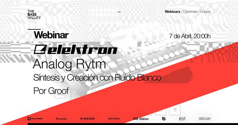 thebassvalley webinar rytm r - Webinar Elektron Analog Rytm. Síntesis y Creación con ruido blanco