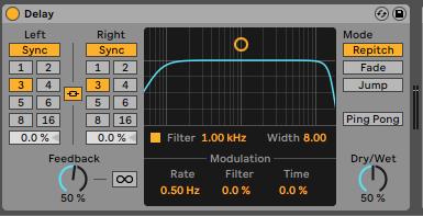 Delay Ableton Live - Home Studio. Efectos de audio y guía práctica de uso