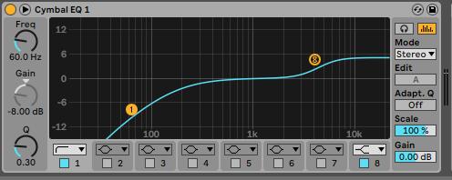 Ecualizador Ableton Live - Home Studio. Efectos de audio y guía práctica de uso