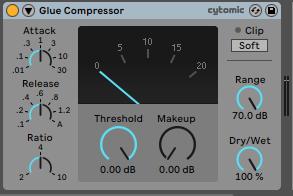 Glue Compressor Ableton Live - Home Studio. Efectos de audio y guía práctica de uso