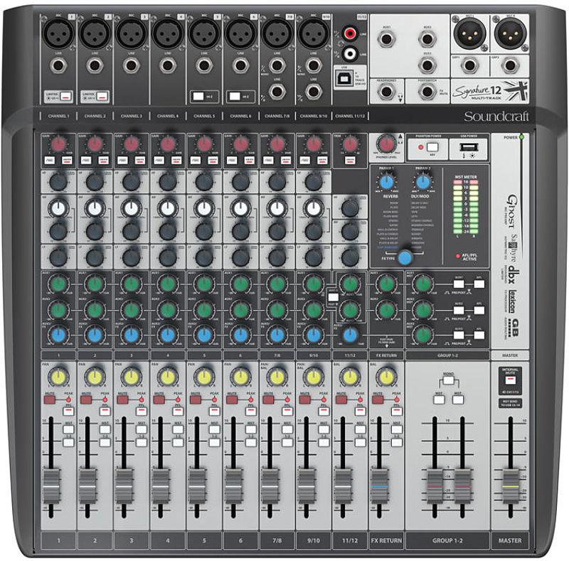 SOUNDCRAFT SIGNATURE 12 MTK - Home Studio. Tarjetas de sonido